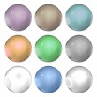 Pearls isolate on white background. Set of different colors — Stock Photo #50528315