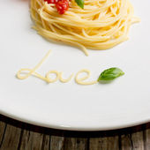 Spagetti love — Stock Photo
