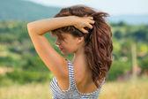 Beautiful natural teenage girl — Stock Photo