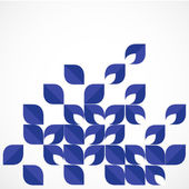 Blue modern geometrical leaf shape background and space for your — Stock Vector
