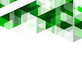 Moderno verde geométrico abstrato modelo, ilustração vetorial — Vetor de Stock