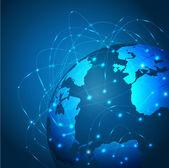 World technology mesh network, vector illustration — Stock Vector