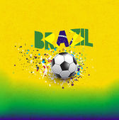 Brazil flag in word header design on grunge texture background, vector & illustration — Stock Vector
