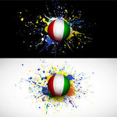 Ivory Coast flag with soccer ball dash on colorful background,  vector & illustration — Vector de stock