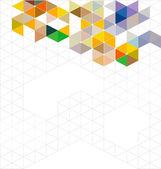 Streszczenie kolorowy nowoczesne geometryczne szablon i miejsca dla tekstu, ilustracji wektorowych — Wektor stockowy