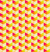 Orange geometric seamless pattern background, vector background — Stockvektor