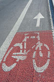 Bike path — Stock Photo