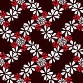 Seamless decorative floral pattern — Stock Vector