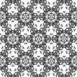 Seamless mosaic pattern in black and white — Stock Vector