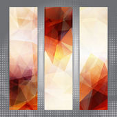 Abstract geometric invitations or banners — Stock Vector