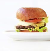 Big cheeseburger — Stock Photo