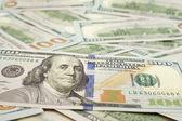 Hundred Dollar Bills for background — Stock Photo