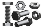 Bolt and nut — Stock Photo