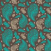 与添加的花卉装饰而优雅的无缝模式 — 图库矢量图片