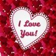 Greeting Valentines days card with hearts — Stock Photo #40227947
