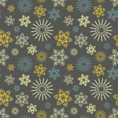 Seamless pattern with floral ornament — Stock Photo
