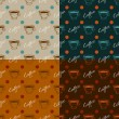 Set of coffee seamless patterns — Stockvektor