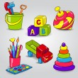 Set of Childrens Toys — Stock Vector