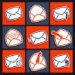 Set of icons for app envelopes and message — Stock Vector