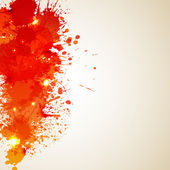 Orange background with blot and splashesŒ — Stock Vector