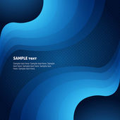Business abstract background with blue waves — Vector de stock