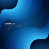 Abstrato de negócios com ondas azuis — Vetorial Stock