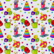 Seamless pattern with colorful childrens toys — Stockvector