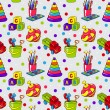 Seamless pattern with colorful childrens toys — Stockvektor