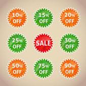 Set of sale lebels — Stock Vector