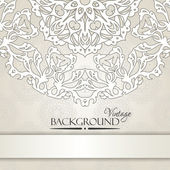 Vintage beige elegant invitation card — Stock Vector