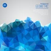 Montagna blu del modello geometrico di triangoli — Vettoriale Stock