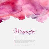 Pink watercolor blots pattern top frame — Stock Vector