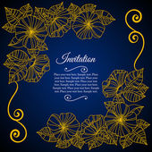 Elegant invitation card with floral lace quilling — Wektor stockowy