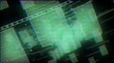 Computer screen data distortion — Stock Video