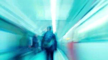Fast passed London Tube travel — Stock Video