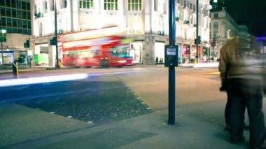 Oxford Circus London pedestrian crossing — Stock Video