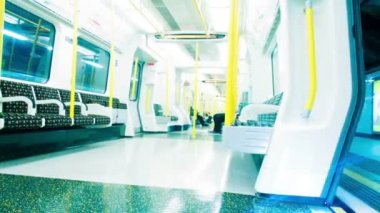 Empty London Underground Tube Carriage — Stock Video