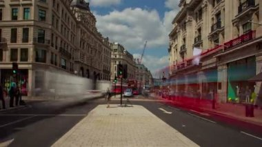 London Oxford Street Time lapse — Stock Video