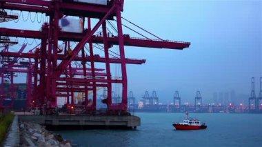 Shipping terminal — Stock Video