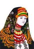 Chica en traje folklórico. ilustración étnico — Foto de Stock
