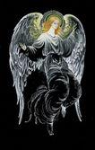 Beautiful hand drawn angel — Stock Photo