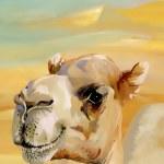 Watercolor camel in desert — Stock Photo #42490633