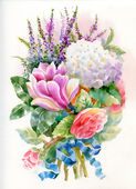 Watercolor flowers — Stock Photo