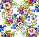 Floral colorful mallow flowers pattern — Stock Photo