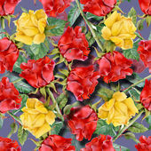 Roses seamless pattern — Stock Photo