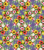 Colorful floral seamless pattern — Stock Photo