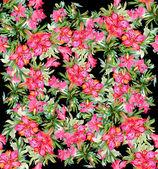 Färgglada sömlös blommönster — Stockfoto