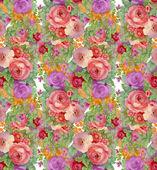 Kleurrijke naadloze bloemmotief — Stockfoto