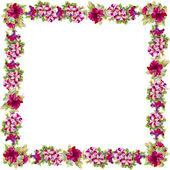Aquarel floral frame — Stockfoto