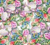 Akvarell blomma bakgrund — Stockfoto